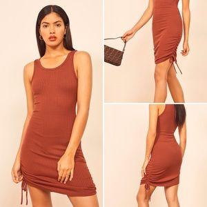 Reformation Aerin Side Tie Body-Con Dress  XL NWT